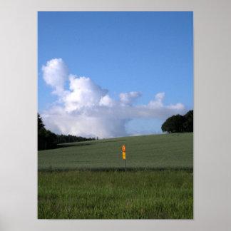 Mushroom cloud stop poster