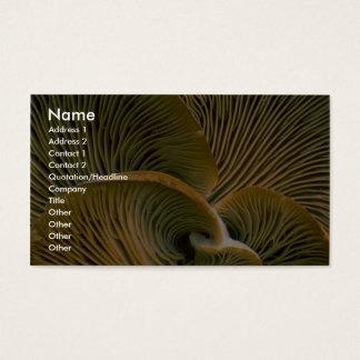 Mushroom cluster on a dead tree business card