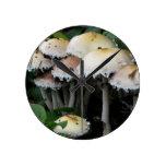 Mushroom Cluster - Photograph Round Clocks