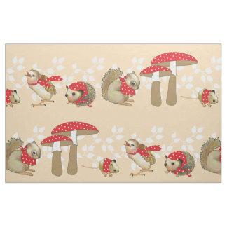 Mushroom Dot Ditto Fabric