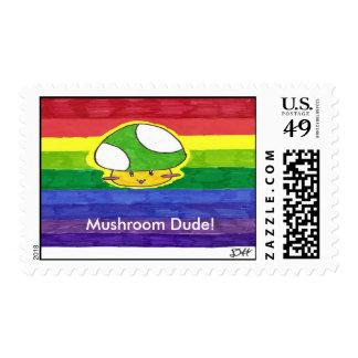 Mushroom Dude Stamps