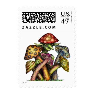 Mushroom Elf Stamp
