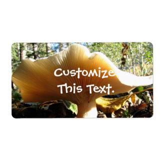 Mushroom Enjoying the Sunshine Label
