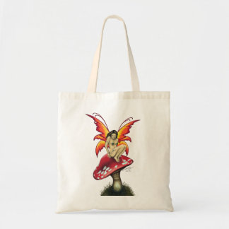 Mushroom fairy Canvas Totes Budget Tote Bag