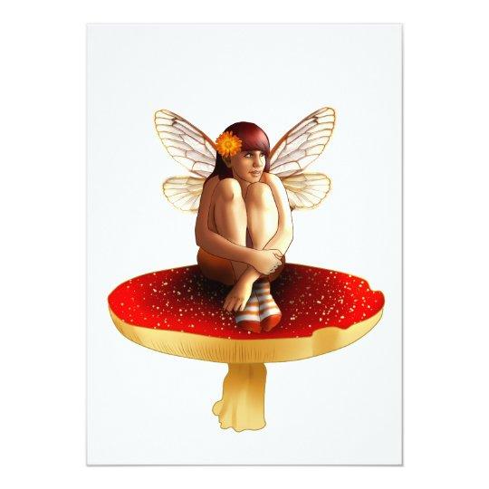Mushroom fairy card