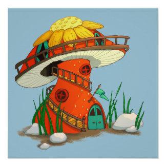 Mushroom Fairy House Poster