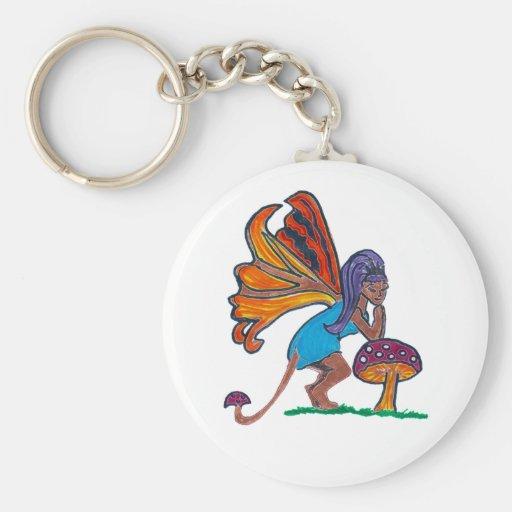 Mushroom Fairy Keychain