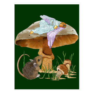 Mushroom Fairy & Mouse Post Cards
