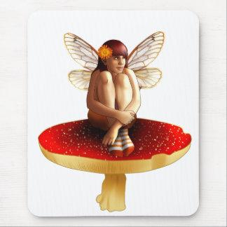 Mushroom fairy mouse pad
