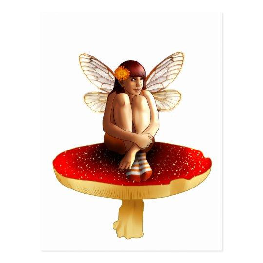 Mushroom fairy postcard