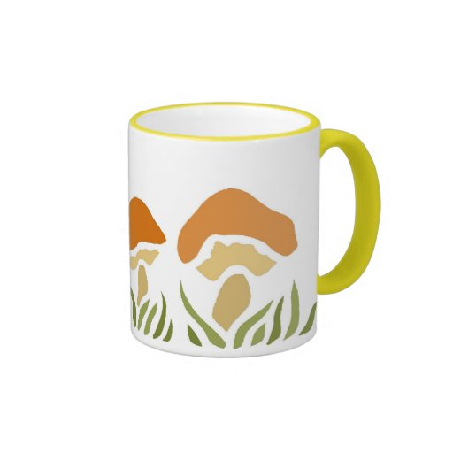 Mushroom Family Ringer Coffee Mug