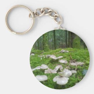 MUshroom Firest Photo Keychain