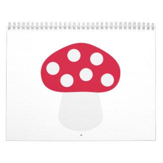 Mushroom Fly agaric Calendar