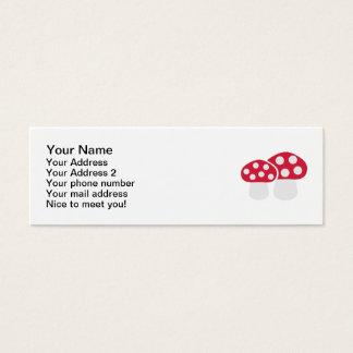 Mushroom Fly agaric Mini Business Card