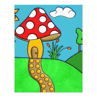 Mushroom Flyer Design