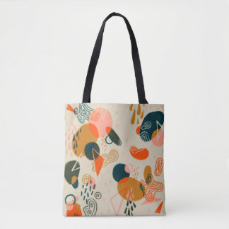 Mushroom Forest Abstract Tote Bag