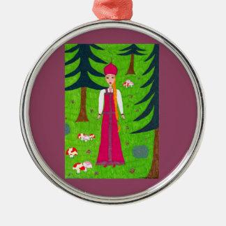 Mushroom Forest Ornament - Premium Round