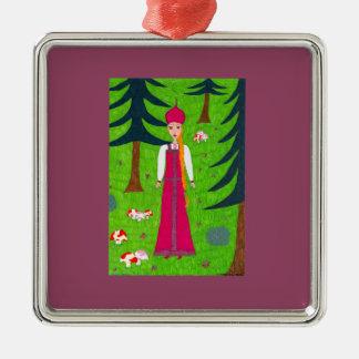 Mushroom Forest Ornament - Premium Square