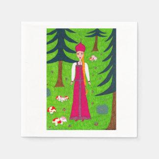 Mushroom Forest Paper Napkin