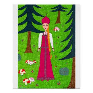Mushroom Forest Poster