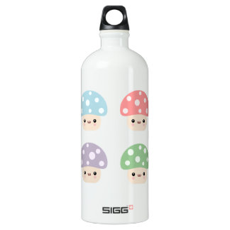 Mushroom Friends Aluminum Water Bottle