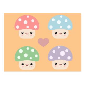 Mushroom Friends Postcard