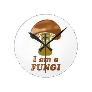 Mushroom Fun Guy Round Clock