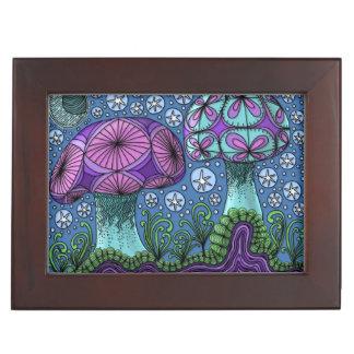 Mushroom Galaxy Keepsake Box