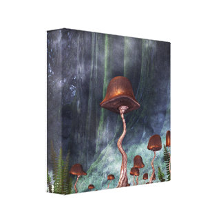 Mushroom Garden Forest Canvas Print