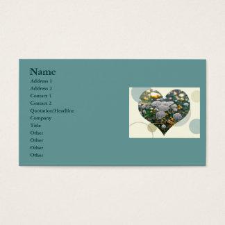 Mushroom Garden Heart Business Card