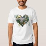 Mushroom Garden Heart T-Shirt