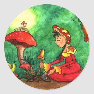 Mushroom Garden Party Sticker
