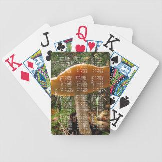 Mushroom Giant; 2013 Calendar Bicycle Playing Cards
