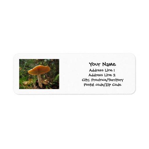 Mushroom Giant Return Address Label