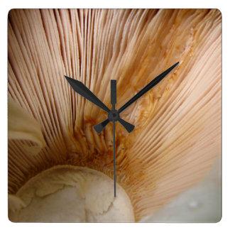 Mushroom gills square wall clocks