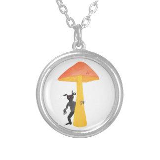 Mushroom Goblin Silver Plated Necklace