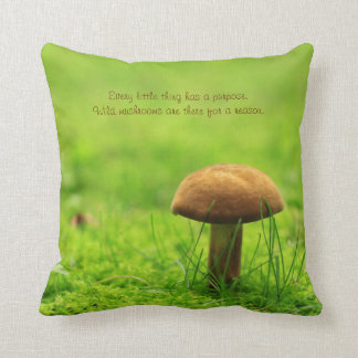 Mushroom Green Meadow Forest There for a Reason Throw Pillow