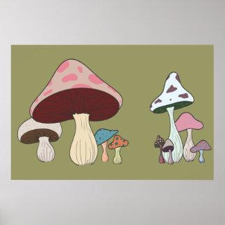 Mushroom Grouping Poster