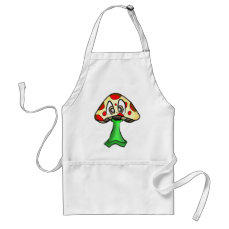 Mushroom Head Design Adult Apron