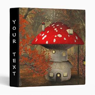 mushroom house 3 ring binder