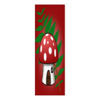 Mushroom House Bookmark Business Card Templates