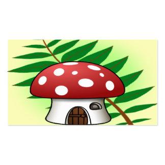 Mushroom House Business Card Templates