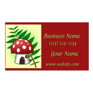 Mushroom House Business Card Template