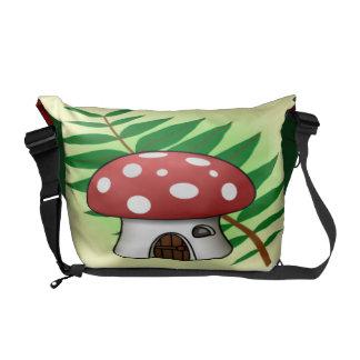 Mushroom House Courier Bag