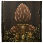 mushroom house fantasy napkin