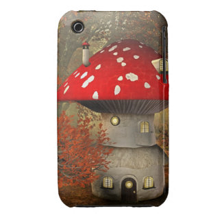 mushroom house iPhone 3 Case-Mate case