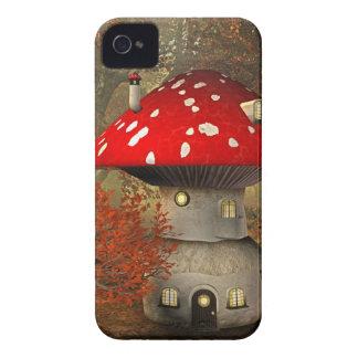 mushroom house iPhone 4 case
