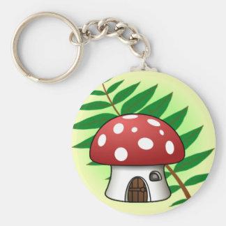 Mushroom House Keychain