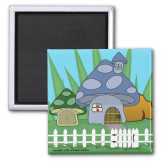 Mushroom House Magnet