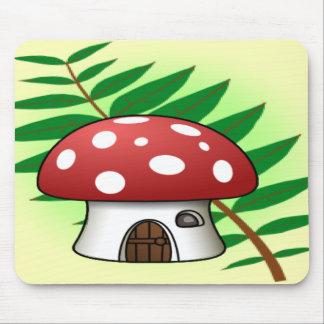 Mushroom House Mouse Pad